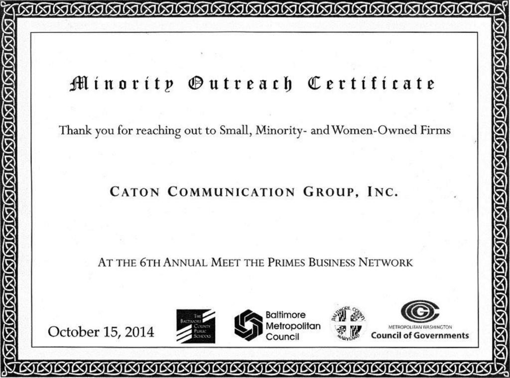 Minority Certificate 2 3 15