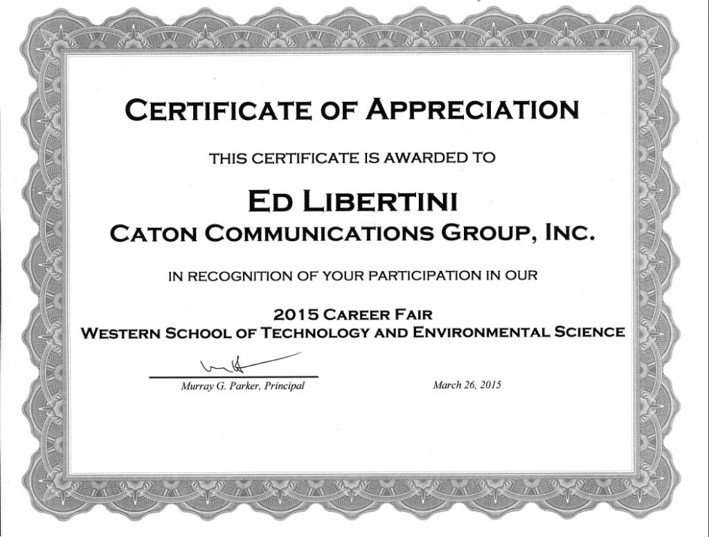 Ed WT certificate